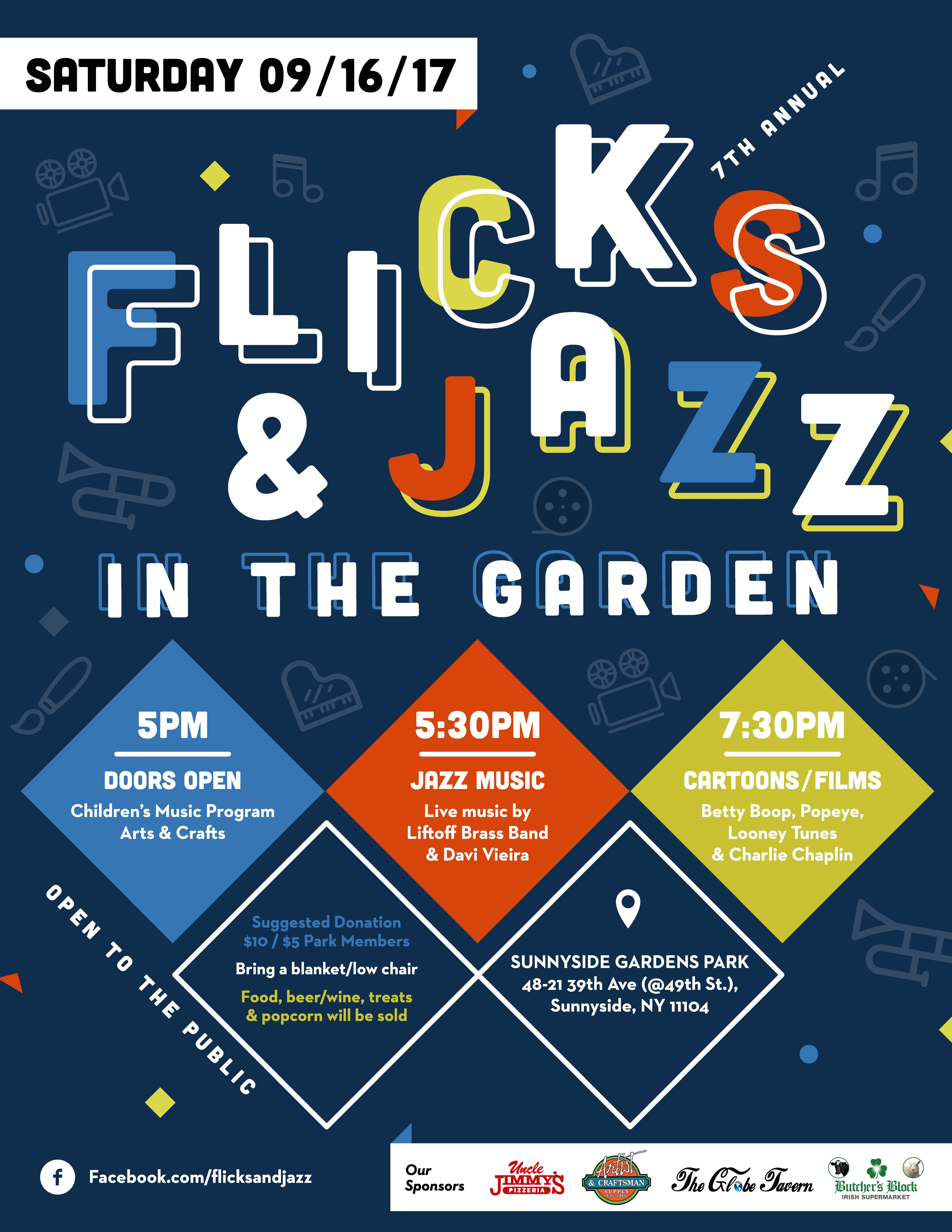 Merveilleux All Are Invited To Flick U0026 Jazz In The Garden 2017, An Annual (and  Affordable!) Family Friendly Evening At Sunnyside Gardens Park Featuring  Live Jazz, ...